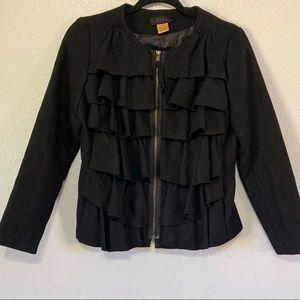 Nina wool blend zip up jacket